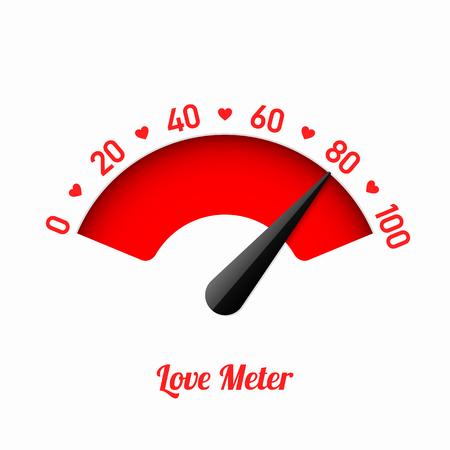 Love meter, Valentine's Day card design element.