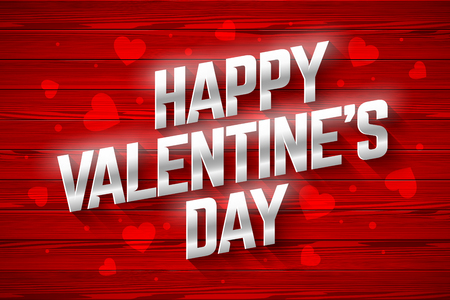 Happy Valentine's Day greeting card design Vectores