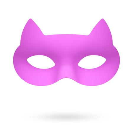 Purple masquerade eye mask illustration. Illustration