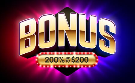 Welcome Bonus casino banner vector illustration  イラスト・ベクター素材