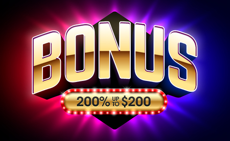 Welcome Bonus casino banner vector illustration Illustration