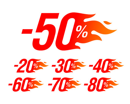 Hot sale special offer discount labels set, stickers