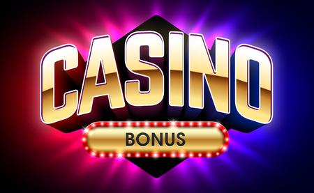 Welcome Casino Bonus banner, first deposit bonus Vectores