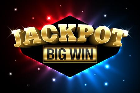 Un Jackpot, un banner de juegos de dinero de casino de apuestas, gran victoria