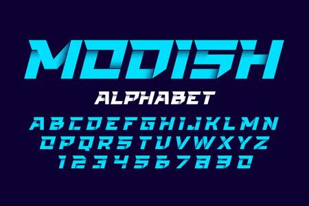 Trendy style alphabet