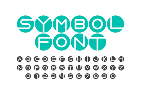 Symbol font, letters and numbers Illustration