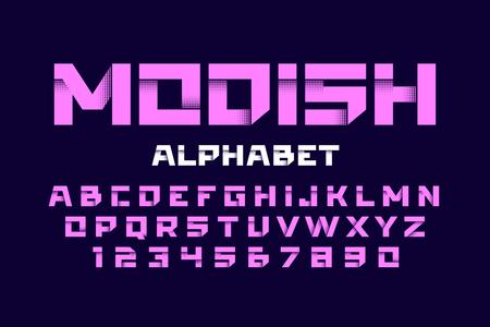 Trendy style alphabet Vector illustration.