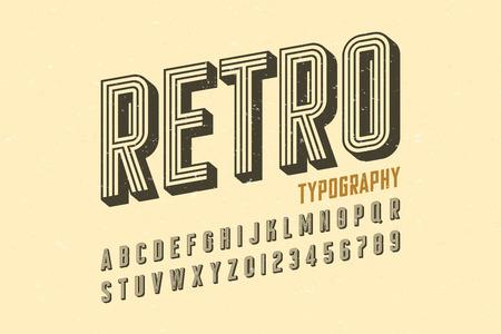 Retro style vintage font Illusztráció