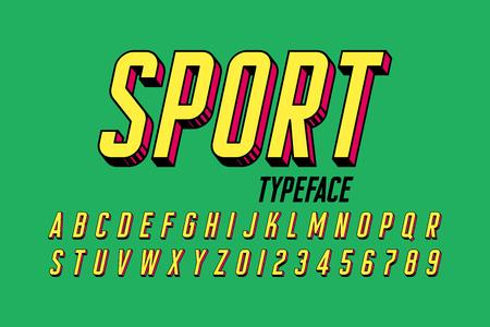 Retro style 3d font