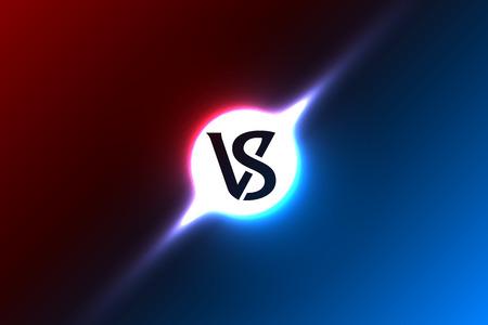 Logo Versus, tło sportowe do bitwy, meczu lub zawodów, litery VS