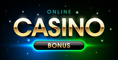 Online Casino Welcome Bonus banner, first deposit bonus