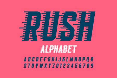 Police, alphabet et chiffres Rush
