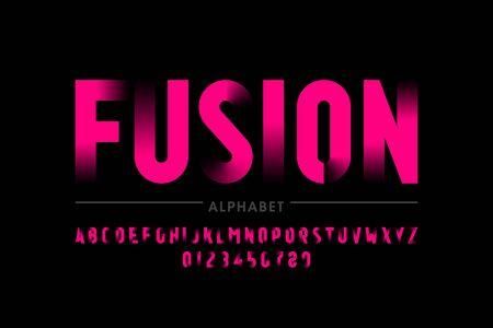Modern font design, alphabet letters and numbers Vector Illustration