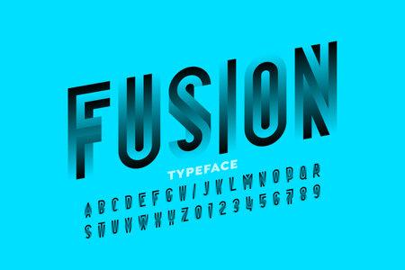 Modern style font design, alphabet and numbers vector illustration Vector Illustration
