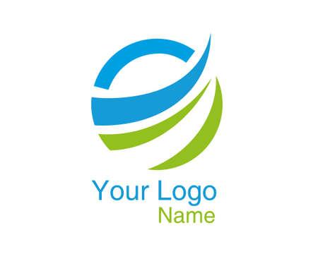 Abstract Circle Logo vector illustration.