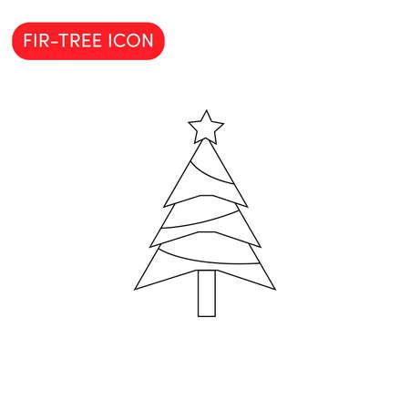 Christmas tree icon vector illustration.