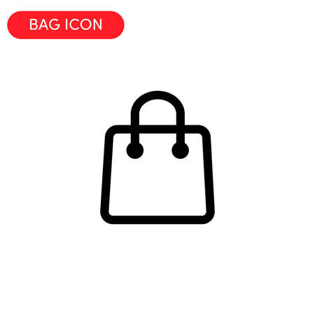 bag icon vector illustration. Illusztráció