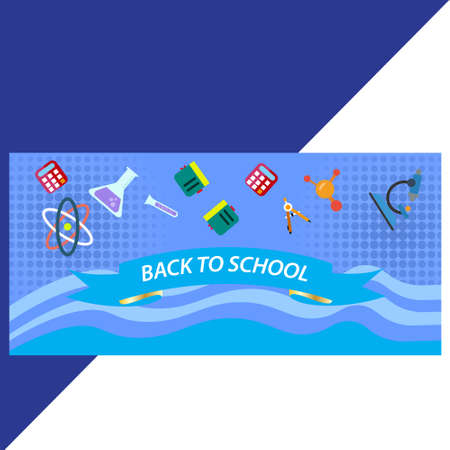 blue back to school background