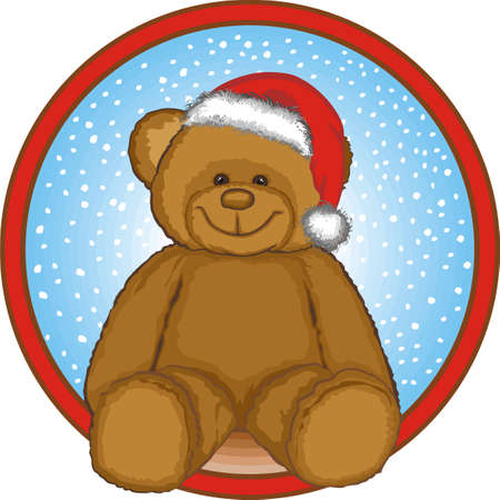 santa       hat: brown bear celebrating christmas wearing santa hat