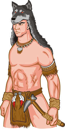 indian warrior: An a vector illustration of Indian warrior