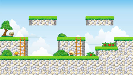 stone stairs: Tile set Platform for Game