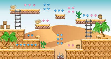 タイルは、ゲーム ベクトル ゲーム アセットのセットは地面のタイルが含まれているいくつかの項目オブジェクトのモバイル ゲームを作成するため