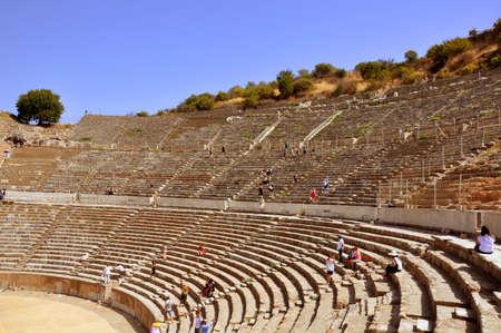 Amphithéâtre de la ville antique d'Ephèse à Izmir, Turquie