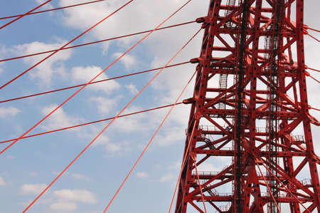 Building structures of the bridge in Moscow, Russian Federation