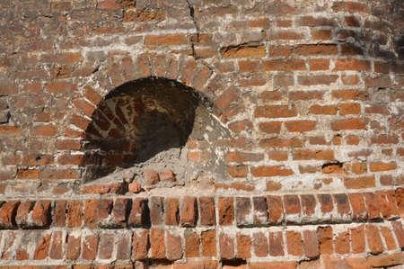 Empty Old Brick Wall Texture Stok Fotoğraf