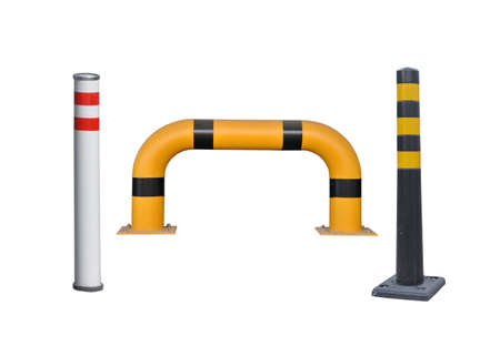 Road columns, wheel chipper. Restriction of movement. Isolate on a white background.