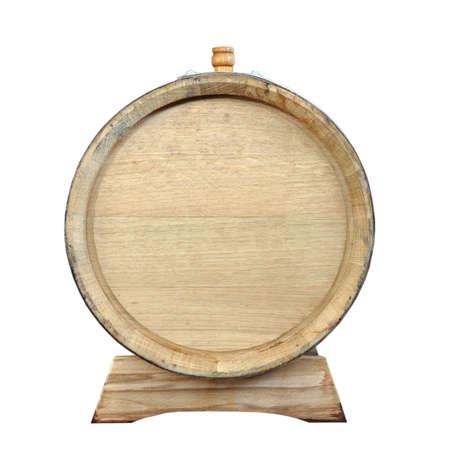 The round bottom of a wooden oak barrel Banco de Imagens