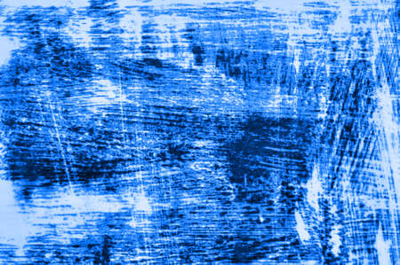 Rusty metal background with streaks of rust. Metallic rust texture background. Blue classic