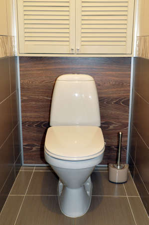 Toilet bowl in the toilet. The interior of the toilet. Dirty toilet Banque d'images