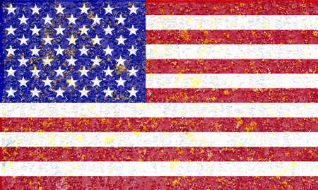 USA national flag. Texture on an old wooden surface. Blank for designers.