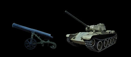 The evolution of heavy weapons. Fortress cannon of the 19th century, a tank of the 20th century.