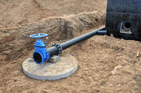 Water supply to the village on the outskirts. New valves