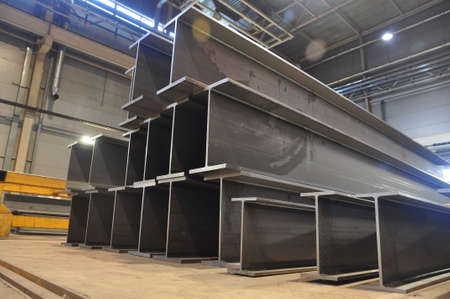 products of the plant for the production of metal structures. Welded I-beam