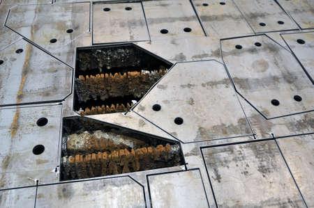 Plasma cutting at the factory. Cut sheet metal. Cut out details. Standard-Bild