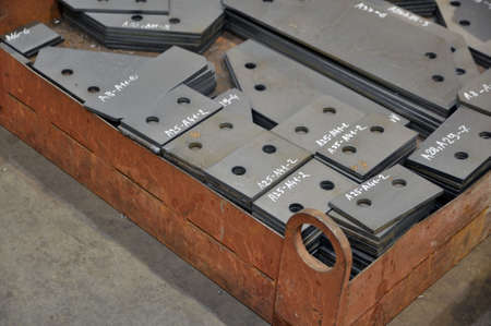 Metal cutting. Sorting and storage of finished parts with marking on potdons.
