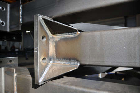 Element of a part of a welded structure, an arc welded seam, technological holes. Industry.