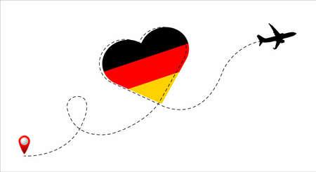 Germany flag inside the heart.