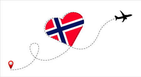 Norway flag inside the heart.