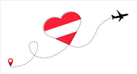 Austria flag inside the heart.