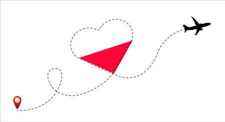 Poland flag inside the heart.