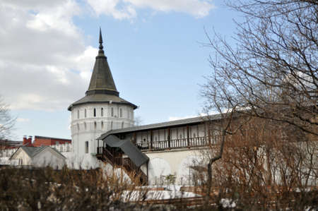 Russia, Moscow. St. Daniel Monastery. The tower of the monastery.