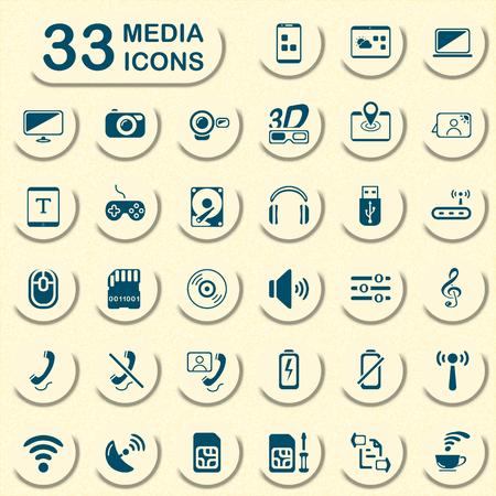 phone card: media icons