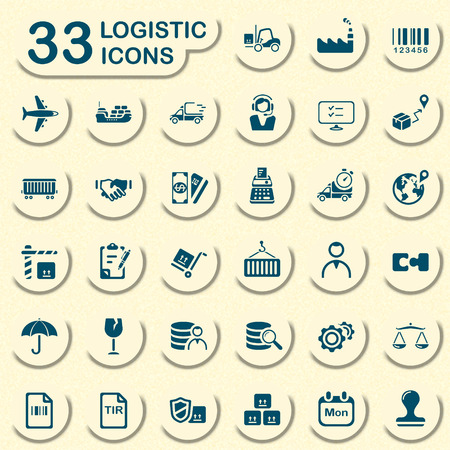 consignee: logistic icons