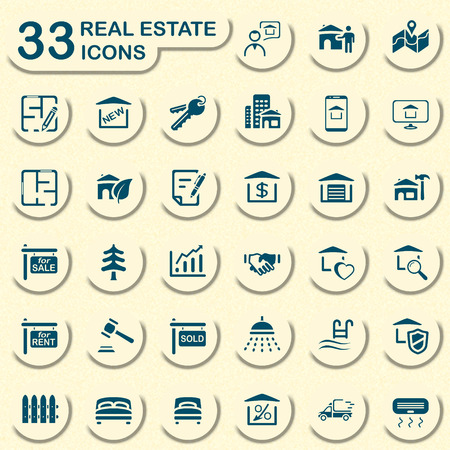 real estate icons: real estate icons