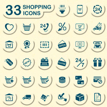 33 shopping icons Vector