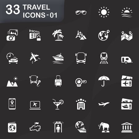honeymoons: Travel icons for mobile phone interface and web